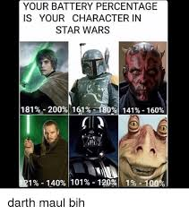 Darth Maul Meme - your battery percentage is your character in star wars 1 81 200 1