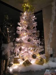 gold and silver christmas tree christmas lights decoration