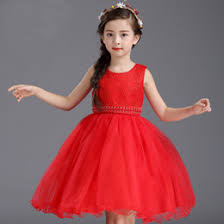 discount girls red satin holiday dress 2017 girls red satin