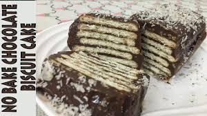 no bake chocolate biscuit cake eid special dessert quick
