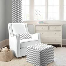 Glider Rocker With Ottoman Baby Nursery With Stripes Walls And Grey Glider Rocker Glider