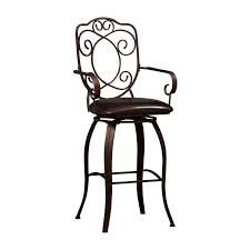 Bar Stool With Back And Arms Powell Big U0026 Tall Copper Stamped Back Swivel Bar Stool With Arms