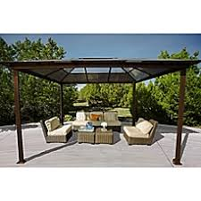 Backyard Gazebo Patio Gazebos Outdoor Canopies U0026 Earth Anchor Kits Bed Bath