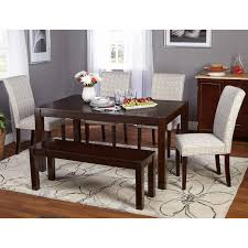 target marketing systems axis 6 piece dining table set walmart com