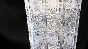 Vintage Waterford Crystal Vases Vintage Bohemian Crystal Vase Youtube