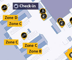 Heathrow Terminal 3 Information Desk Flight Vs601 To Johannesburg From London Heathrow