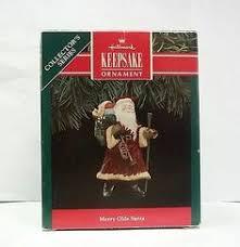 1988 hallmark wooden tree shadow box with ornaments