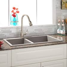 Granite Composite Kitchen Sinks by Sinks Single Bowl Undermount In Granite Composite Sink Gray End