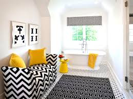 black and white bathroom decor ideas hgtv pictures within yellow