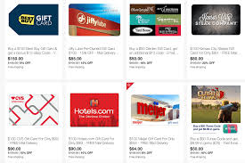 best deals on gift cards ebay save on best buy gift cards and hotels darden more