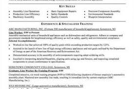 Assembly Line Worker Resume Sample by Production Line Worker Resume 10 Assembler Job Description For