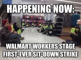 walmart black friday strike walmart workers stage first ever sit in strike u2013 thinkprogress