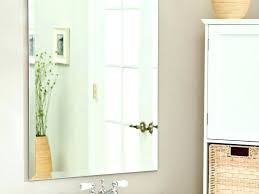 Beveled Bathroom Mirrors Frameless Beveled Wall Mirror Fascinating Beveled Bathroom Mirror