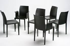 6 Black Dining Chairs Lola Dining Chairs By Luigi Cerri For Poltrona Frau Set Of 6 For