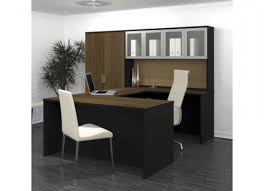 bestar pro concept u shaped desk with high hutch 110855 1598