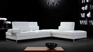 White Leather Sectional Sofa Divani Casa Tango Modern White Leather Sectional Sofa