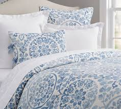 ana medallion duvet cover u0026 sham smoke pottery barn