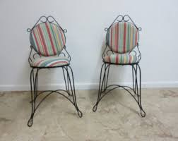 Vintage Bistro Chairs Wire Chairs Etsy