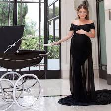 Fitted Maternity Dresses Elegant Maternity Dresses Fitted Long Formal Off Shoulder Black