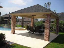 Sunscreen Patios And Pergolas by A Great Feature To Include In A Poolside Gazebo Is A Fire Pit A