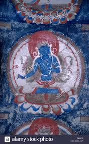 mural wall painting of buddha in tholing western tibet stock mural wall painting of buddha in tholing western tibet