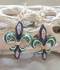 mardi gras earrings mardi gras serenity home gifts