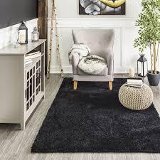 birk shag rug 6x9 black rugs jysk canada