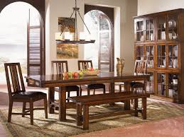 mesa rustica rectangular trestle dining table by a america