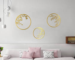 Gold wall decor