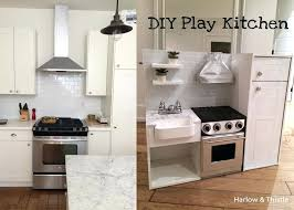 diy play kitchen ideas diy kids play kitchen kitchenaid blender fridge now a successful how