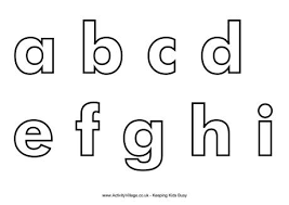 printable letters cut out letter templates