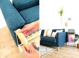 customiser canapé pied de canape customiser canapac avec des pieds en bois conique