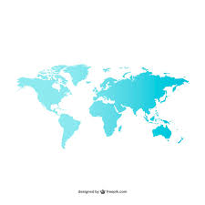 free map blue world map vector free