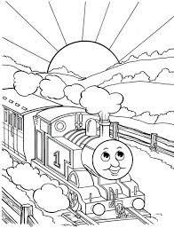 train coloring pages drawing thomas tank engine free printables