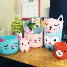creature catch alls kitty planters upcycled plastic bottle