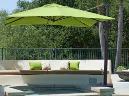 Patio Umbrella Cantilever Offset Patio Umbrellas Cantilever Outdoor Umbrellas Within Outdoor