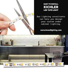 Led Tape Lighting Under Cabinet by Easy To Install Kichler Led Tape Light Under Cabinet Kitchen