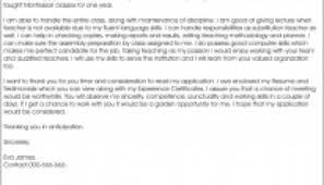 sample cover letter for teacher recommendation letter sample