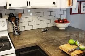 how to install a subway tile kitchen backsplash subway tiles with concrete kitchen countertop