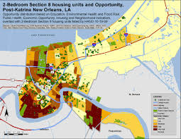 Map Of New Orleans Louisiana 2009 Housing Choice Voucher Program Hcvp Opportunity Mapping