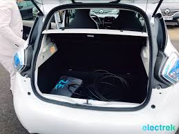renault europe 11 renault zoe white trunk opening electric vehicle battery