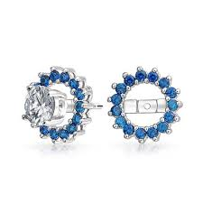 earring jacket color cz earring jackets for studs