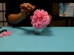 Paper Flowers Video - how to make tissue paper flowers youtube