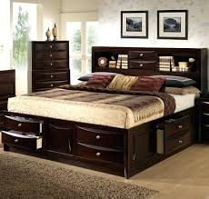 Bookcase Headboard King Bed Frames Lifestyle King California Storage W Bookcase
