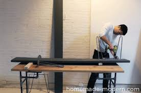 homemade modern ep48 hairpin bench