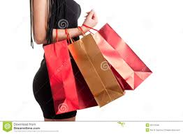 woman carrying shopping bags stock photo image 29113540