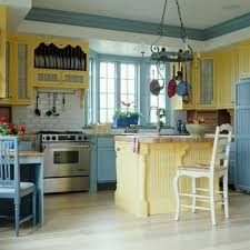 retro kitchen with pine cabinets and retro appliances retro