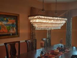 Glass Droplet Ceiling Light by The Weston 40 Inch Rectangular Glass Drop Crystal Chandelier