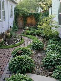 Patio And Garden Ideas Large Sheltered Sunken Patio With Views Of The Upper Garden