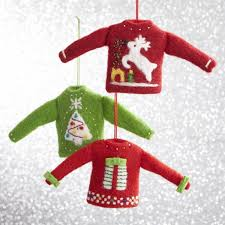 set of 3 woolly sweater ornaments no longer available online